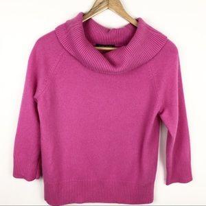 Valerie Stevens Cashmere Sweater Turtleneck Pink